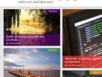 Online Magazine Featured Section