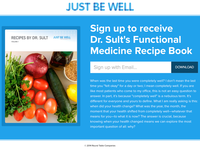 Just Be Well Landing Page
