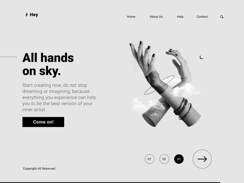 Creative Artists Concept Web abstract user inteface user interface interactive interface ui ux web design website web website design webdesign userinterface ui illustration design art creative photoshop composition landing page