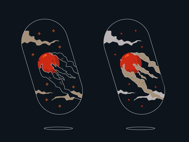 Meteorite capsule illustration art capsule meteorite aesthetic dark clean minimal design vectorart vector illustration vector art vectors illustrator vector ui logo illustration creative composition