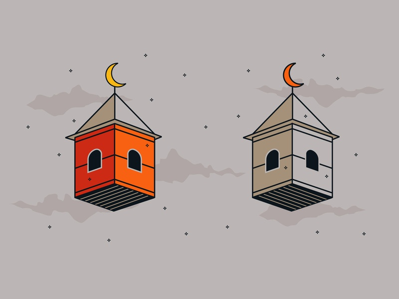 Moon House minimal illustration art house logo house illustration house home dreams surreal clean minimalist illustrations art illustration