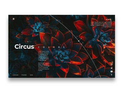 Circus Colors | Landing Page