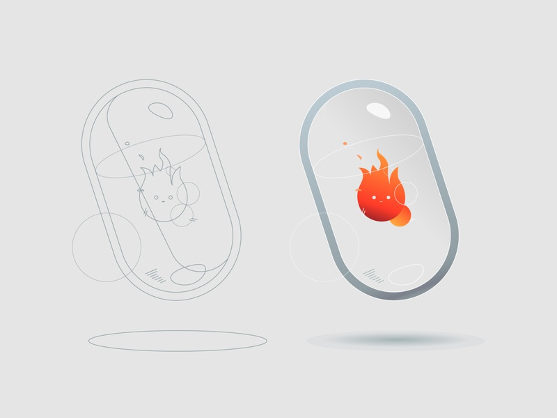 Fire Capsule white space whitespace abstraction simple design abstract art abstract design ui clean white abstract minimalism illustration minimalismus minimalistic minimalist minimalism illustraion illustrations illustration art illustrator illustration