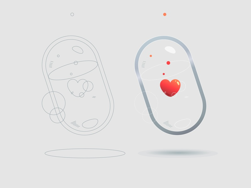 Love Capsule minimalismus clean resume cleaning clean ui clean design ui  ux icon design uidesign iconography logo illustration art simbol icon minimalism uiux clean composition ui illustrator illustration