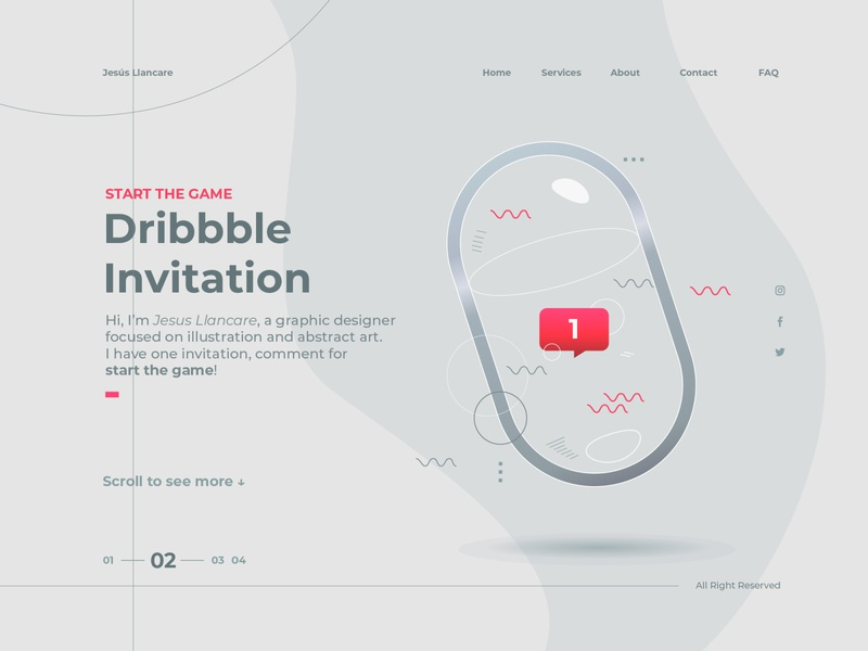 Dribbble Invitation clean resume clear illustration art whitespace white clean ui abstract illustrations illustrator dribbble invitation dribbble invites dribbble best shot illustration uiux ui  ux dribbble dribbble invite uidesign ui design ui