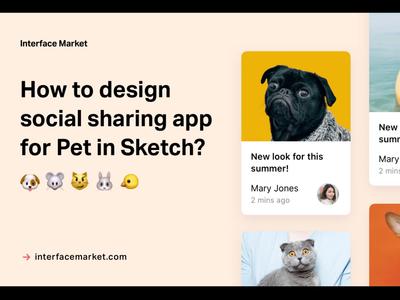Design social sharing app for Pet in Sketch — Part 1
