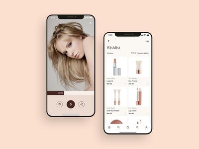 Beauty makeup mobile app UI design