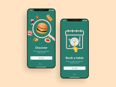 Restaurants booking app