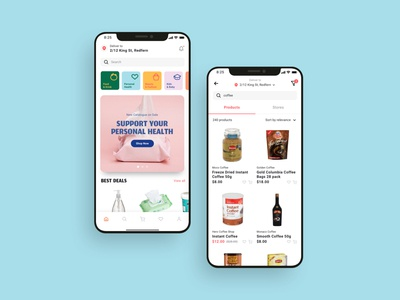 Boston Grocery Delivery App UI Kit