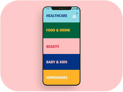 Category menu UI animation design ui motion app animation ui animation grocery app delivery app food app food delivery app mobile app ui mobile ui kit figma adobe xd sketchapp ui ux design mobile app ui design ui design 设计 应用 应用界面