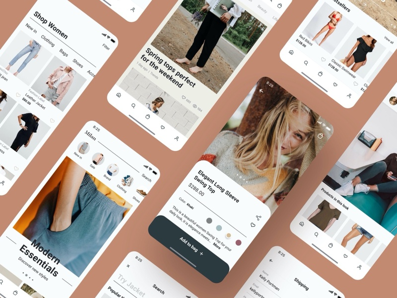 Shopping app UI design fashion ecommerce shopping app fashion app mobile app ui mobile ui kit figma adobe xd sketchapp ui ux design mobile app ui design ui design app screens 设计 应用 应用界面