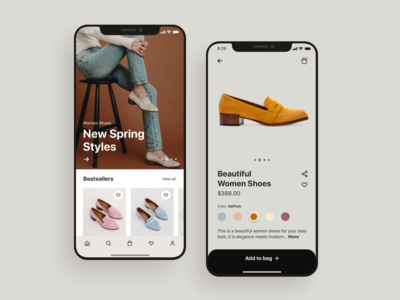 Product mobile app UI Design