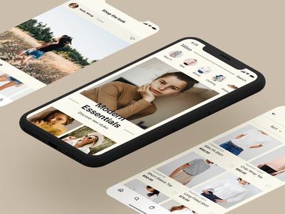 Milan Fashion Shopping Mobile App UI Design