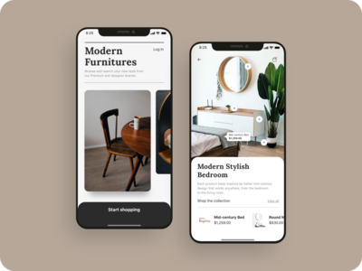 Ecommerce shopping app UI design