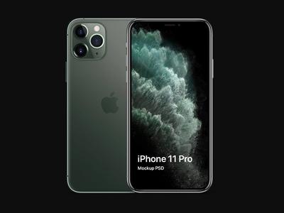 iPhone 11 Pro mockup PSD