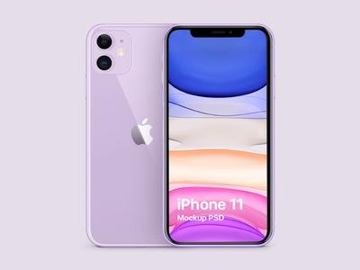 iPhone 11 Purple Free Mockup