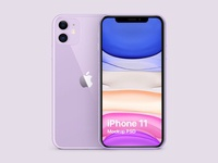 iPhone 11 Purple Free Mockup