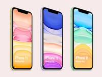 iPhone 11 mockup psd freebie
