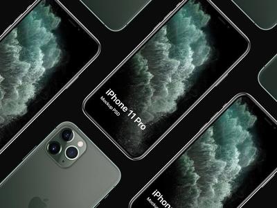 iPhone 11 Pro PSD Mockup