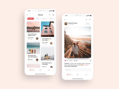 Social feeds UI design