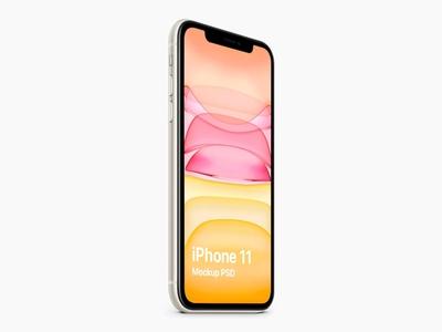 iPhone 11 Isometric Mockup