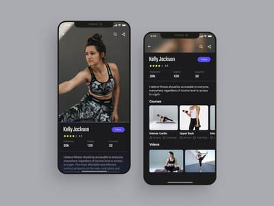 People profile mobile app UI design
