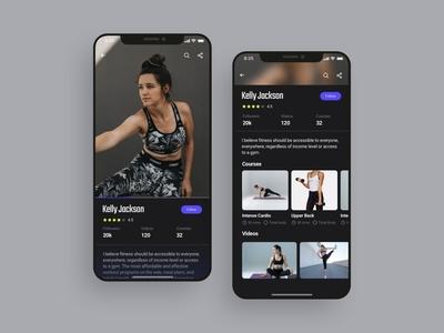 People profile mobile app UI design