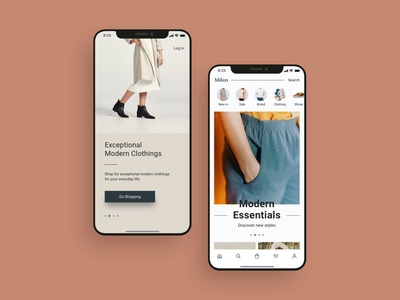 Fashion Shopping App UI Design