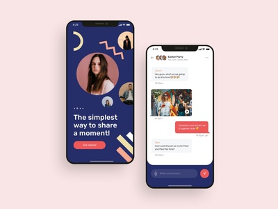 Messaging mobile app UI design