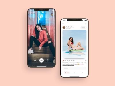 Social media app UI design