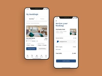 Hotel booking mobile app UI design