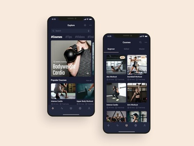 Fitness workout mobile app