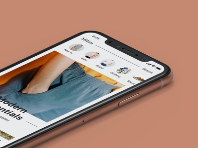 Fashion shopping mobile app UI design