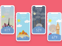 Weather & World Clock UI