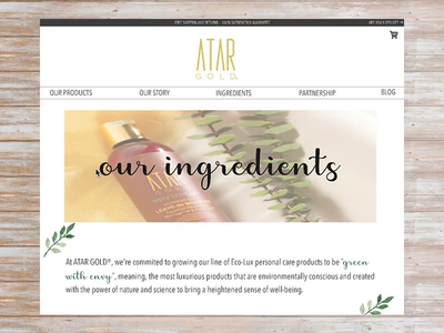 Beauty Product Ingredients Page