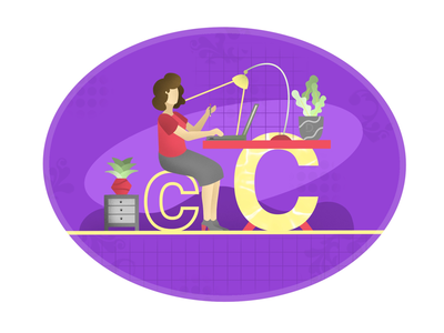 36 days of type + illustration : Day 3 : C
