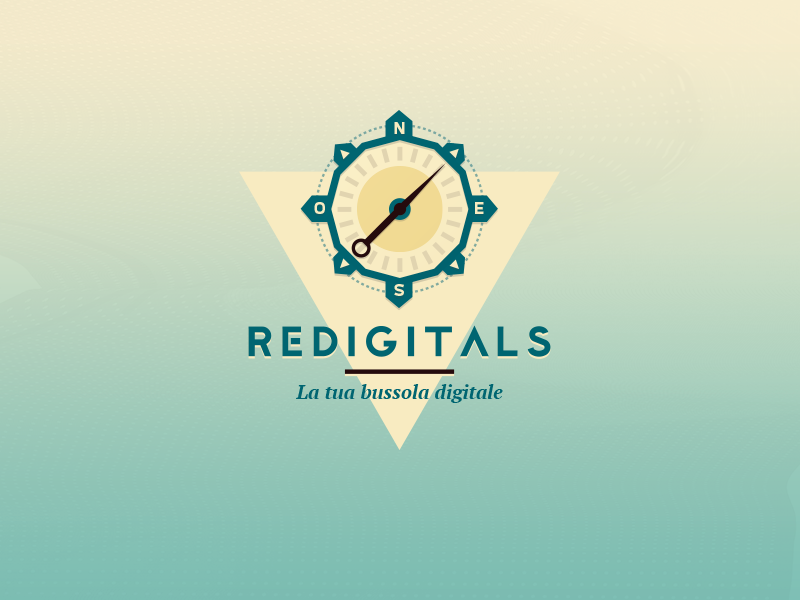 Redigitals - Logo design illustration geometric triangle compass digital agency agency digital redigitals modern logo design design logo