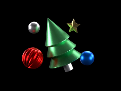 Christmas Animation 2020 render octane c4d ornaments star christmas tree holidays animation christmas illustration 3d