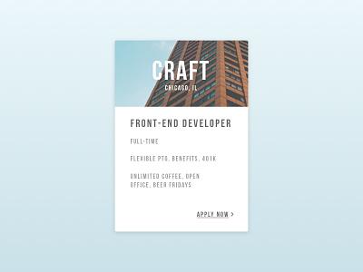 Job Listing clean minimal design ux classified post job listing 050 dailyui100 daily100 dailyui