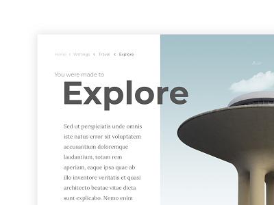 Breadcrumbs typography whitespace clean minimal ui ux navigation links breadcrumbs 056 dailyui100 dailyui