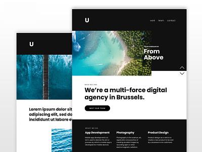 Ungrid Kirby Theme kirby cms photography dark bold portfolio minimal web design website