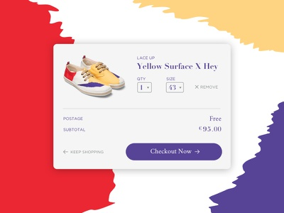Shopping Cart shoes pattern modern colorful product view checkout shopping bag shopping cart 058 daily100 dailyui