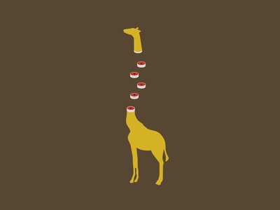 The Burden of Reflecting animal vector giraffe minimal logo illustration flat design clean character branding