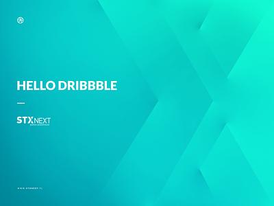 Hello Dribbble! Hello Players! mono color debut vector shadows play welcome invite illustration stx next hello dribbble first shot