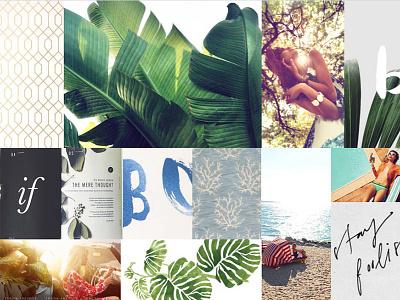 Mood Board gold green brandingagency branding lifestyle tropical realestatebranding realestate graphicdesign moodboard inspiration