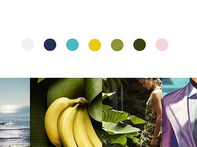 Tropical Color Inspiration gold green brandingagency branding lifestyle tropical ocean realestatebranding graphic design mood colorpalette inspiration