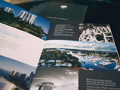 Print Brochure // Terrazas marketing collateral city miami beach ocean miami brochure print brochure real estate marketing real estate print collateral print design print