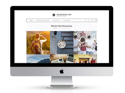 Website Design // Backpacks.com