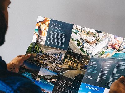 Large Travel Brochure // The Ocean Resort Residences moody marketing collateral ocean brochure print brochure real estate marketing real estate print collateral print design print