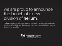 helium reality // AR + VR real estate marketing real estate design branding typography augmented reality virtual rendering ar vr graphic design